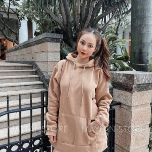 áo hoodie tan