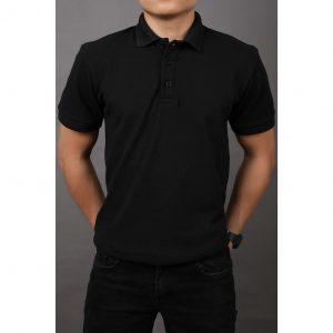 áo polo nam trơn đen