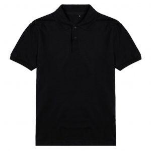 áo polo trơn nam màu đen