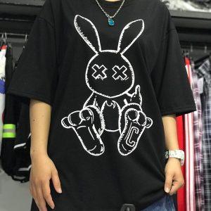 ao thun thỏ đen