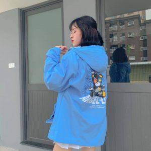 áo khoác dù gấu xanh