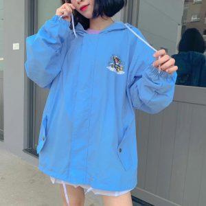 áo khoác dù xanh