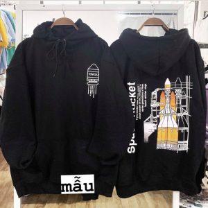 hoodie tên lửa đen