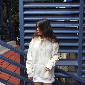 hoodie nữ trắng
