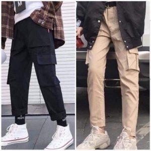 quần dài kaki túi hộp