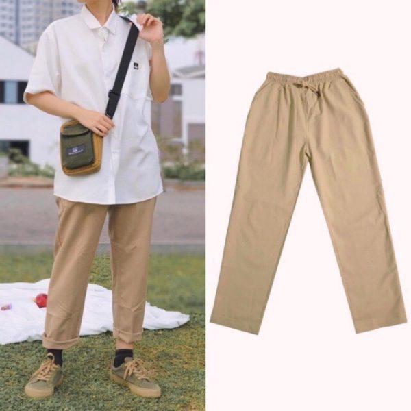 quần dài kaki lưng thun