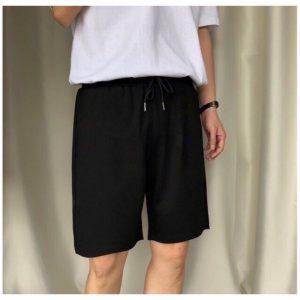 quần short thun đen nam
