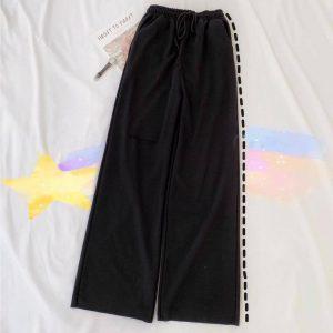 quần dài ống rộng đen