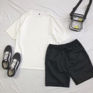 short kaki đen