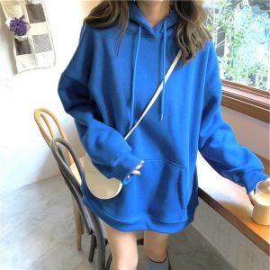 hoodie xanh coban