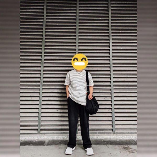 quần thun đen ong rong
