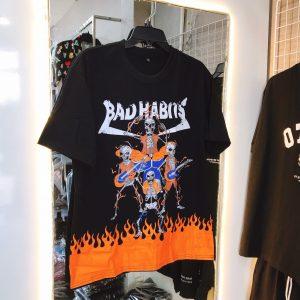 áo thun bad habit đen lửa