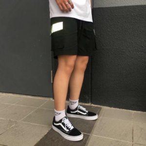 quần short kaki túi hộp phản quang