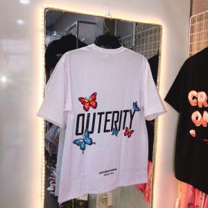 Áo thun outerity trắng