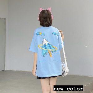 áo thun click xanh biển