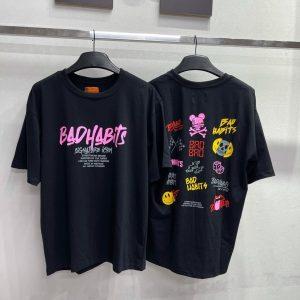 áo thun bad habits đen