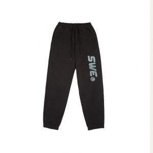 quần jogger thun swe đen