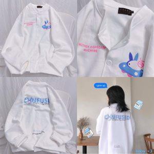 áo khoác cardigan trắng