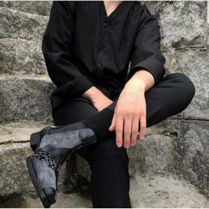 áo sơ mi đen tay dài